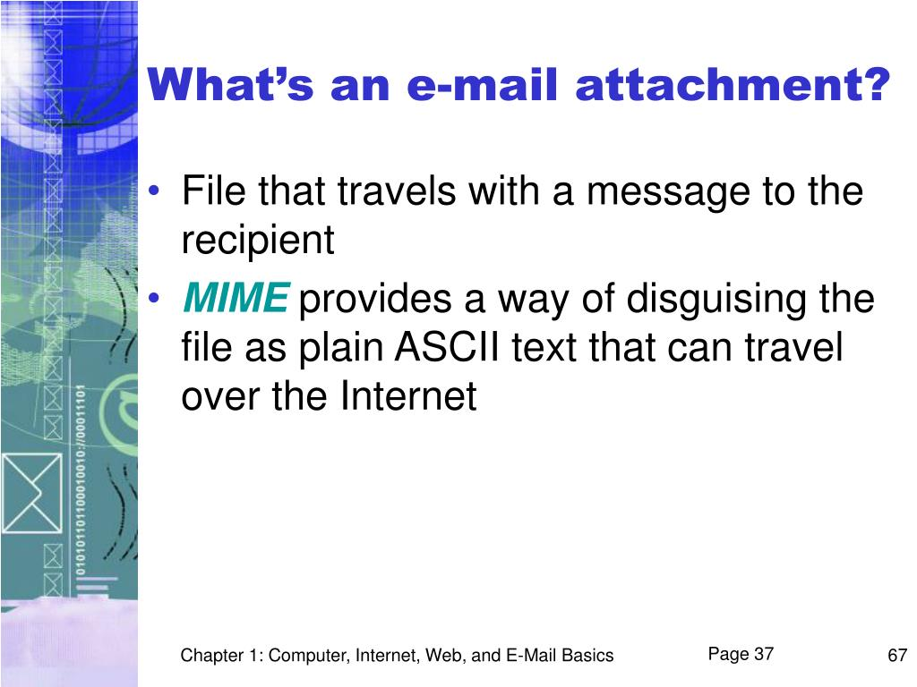 What's an e-mail attachment?