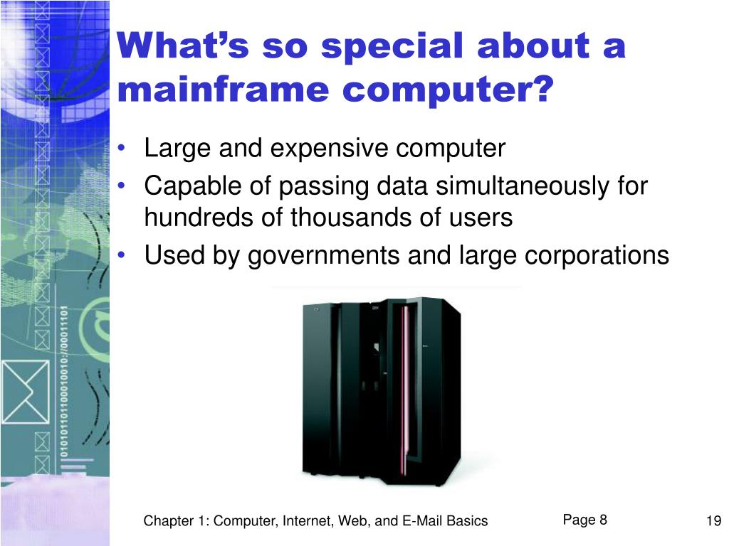 What's so special about a mainframe computer?