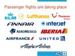 passenger flights are taking place