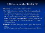 bill gates on the tablet pc