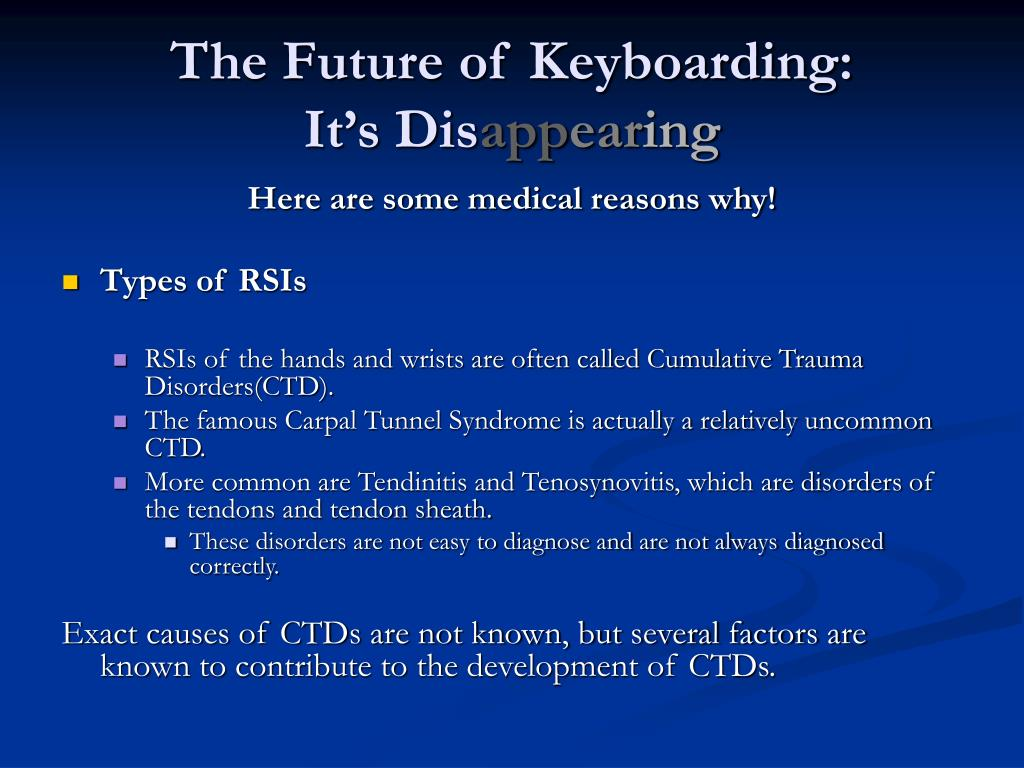 The Future of Keyboarding: