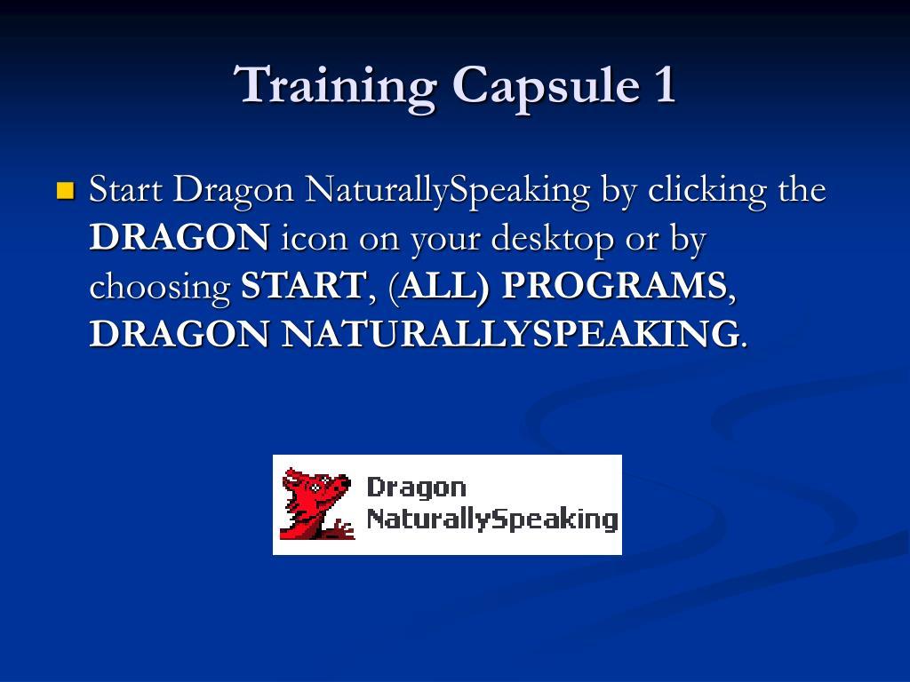 Training Capsule 1