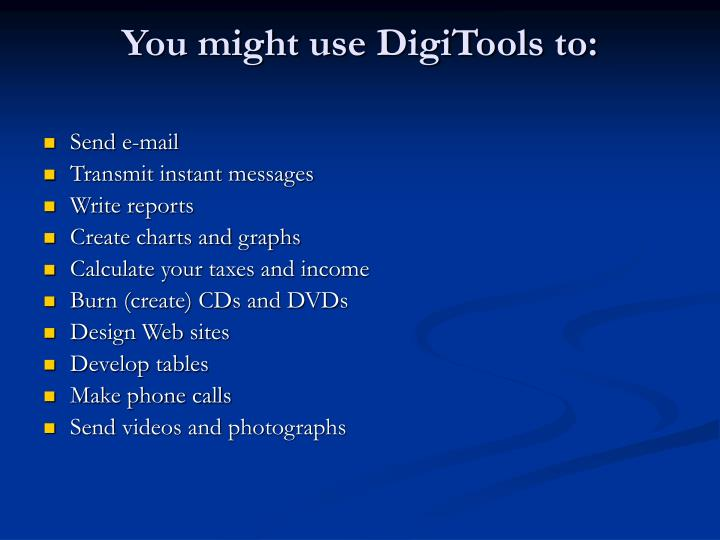 You might use digitools to
