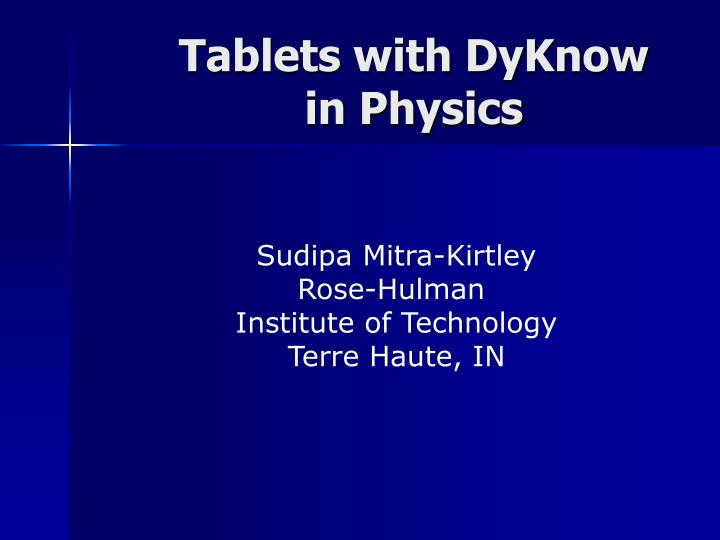 tablets with dyknow in physics n.