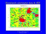 simulated calorimeter data jef