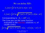 we can define jefs