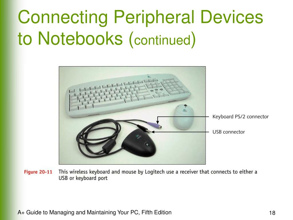 Connecting Peripheral Devices to Notebooks (
