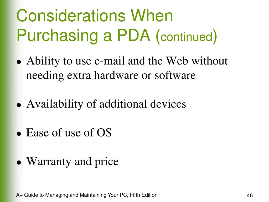 Considerations When Purchasing a PDA (
