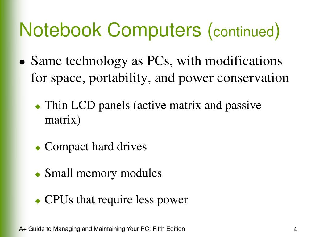 Notebook Computers (