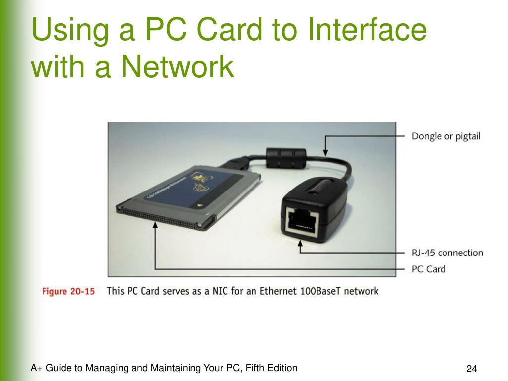 Using a PC Card to Interface with a Network