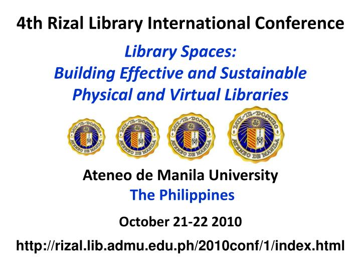 4th rizal library international conference