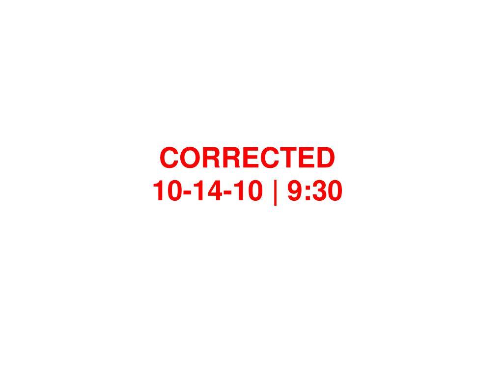 CORRECTED