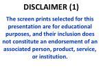 disclaimer 1
