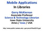 mobile applications in libraries
