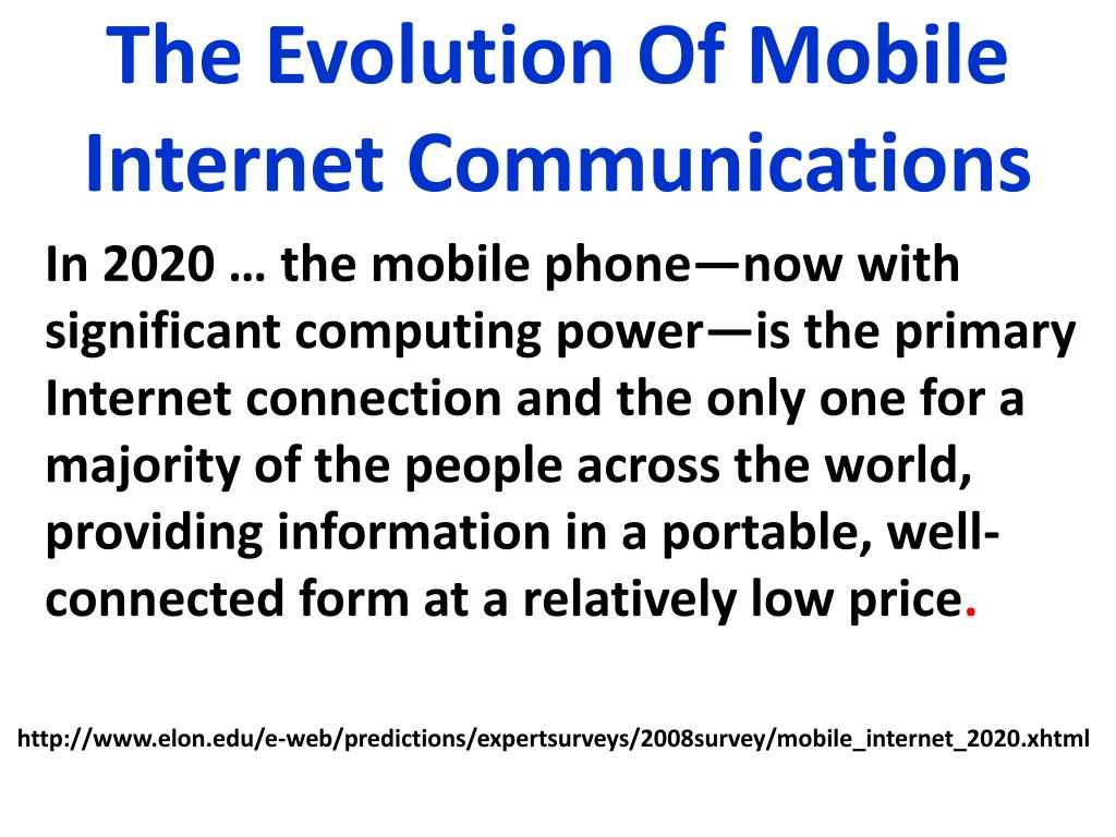 The Evolution Of Mobile