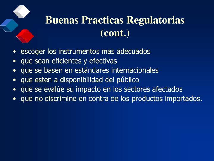 Buenas practicas regulatorias cont