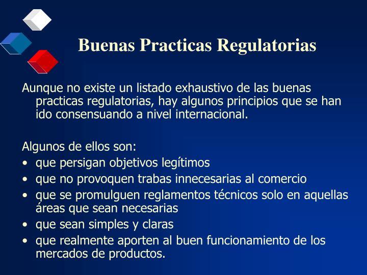 Buenas practicas regulatorias