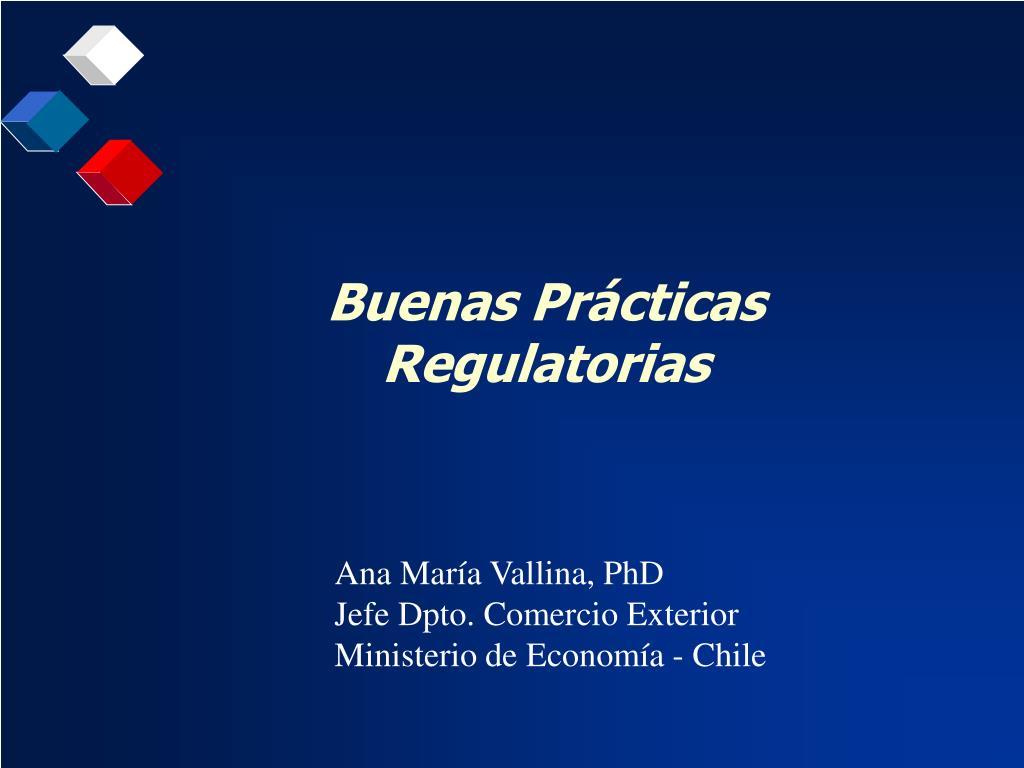Buenas Prácticas Regulatorias