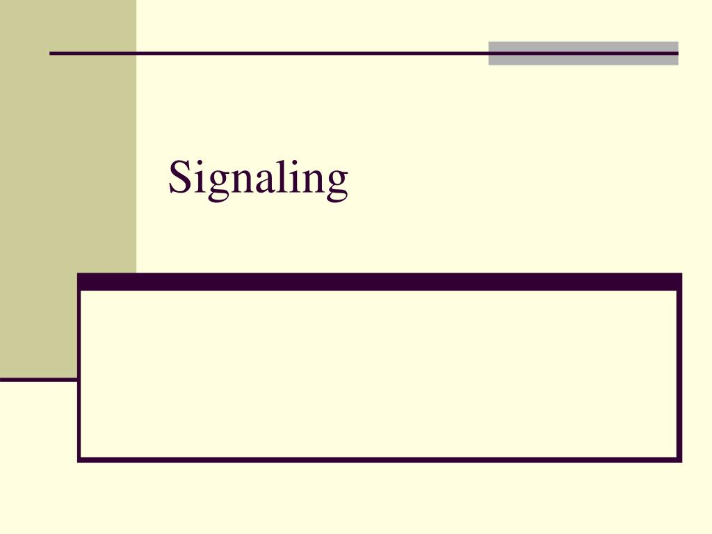 signaling l.