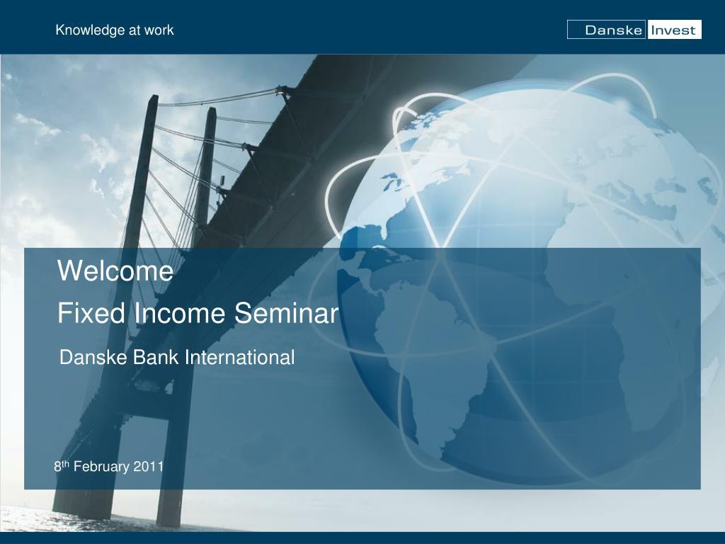 welcome fixed income seminar l.