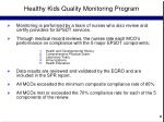 healthy kids quality monitoring program