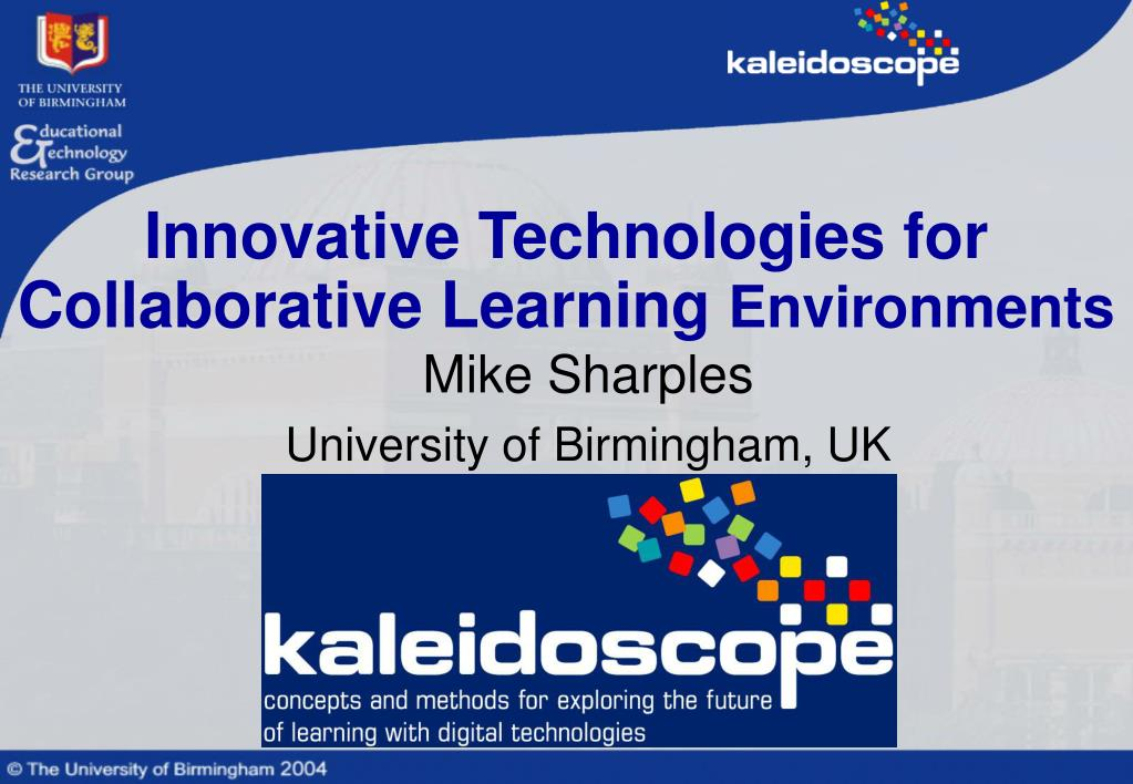 innovative technologies for collaborative learning environments l.
