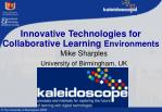 innovative technologies for collaborative learning environments