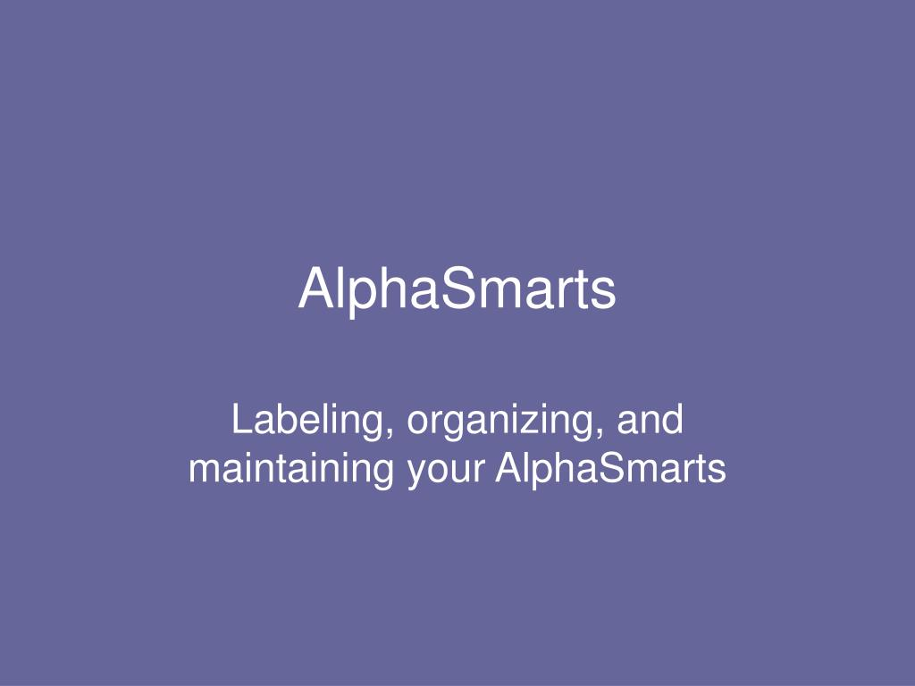 alphasmarts l.
