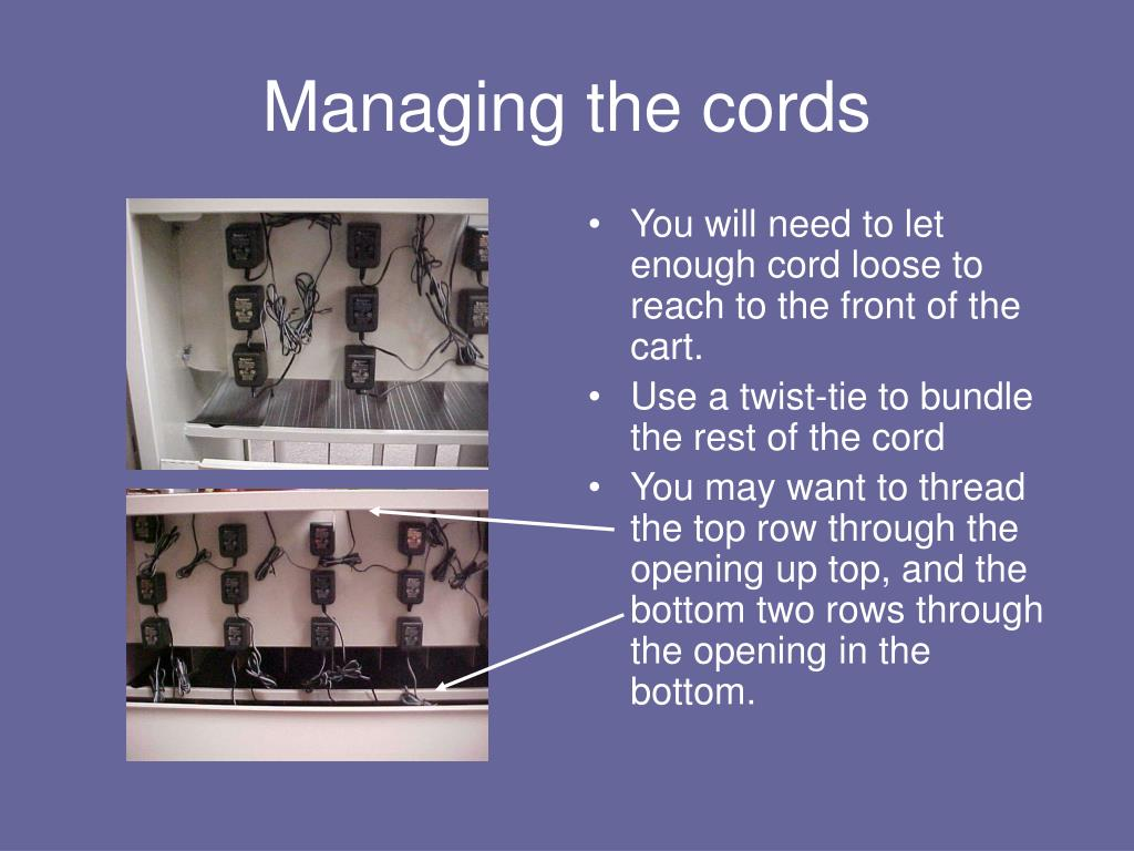 Managing the cords