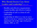 why should daoists care about leaders and leadership davis 2007