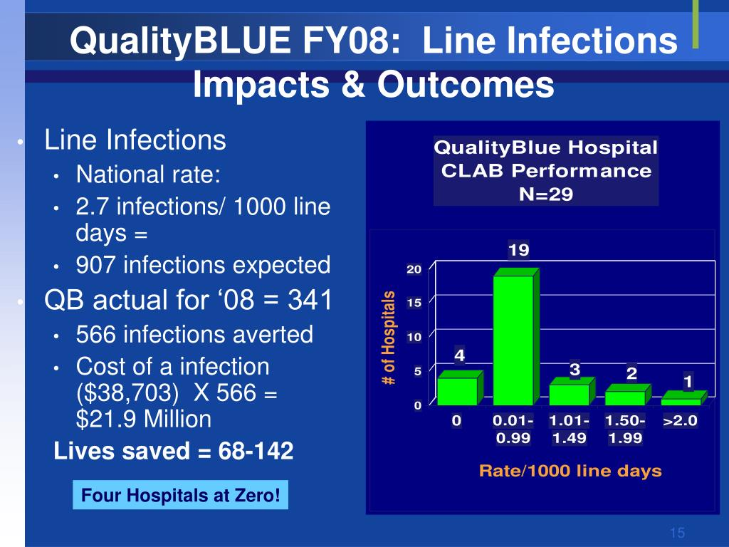 QualityBLUE FY08:  Line Infections Impacts & Outcomes
