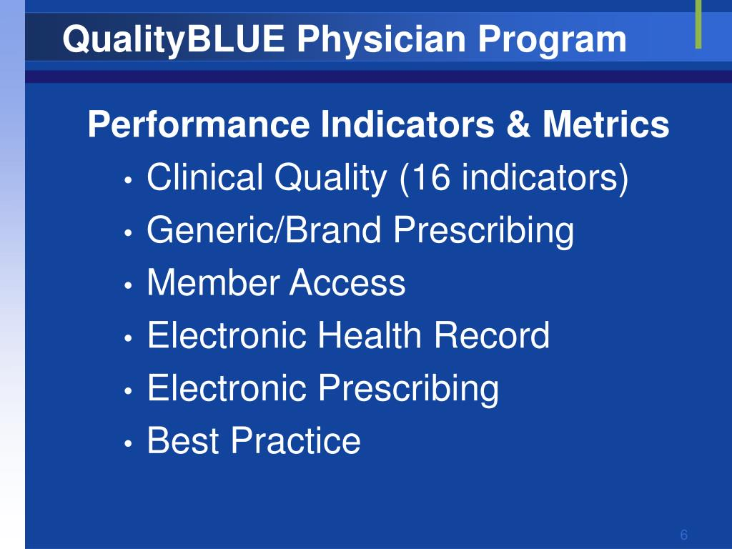 QualityBLUE Physician Program