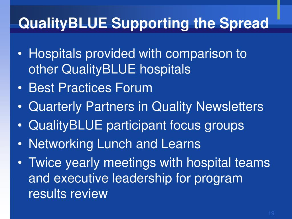 QualityBLUE Supporting the Spread