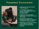 presenters environment