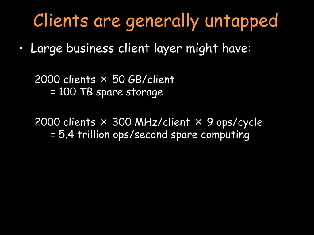 Clients are generally untapped
