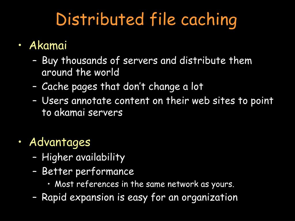 Distributed file caching