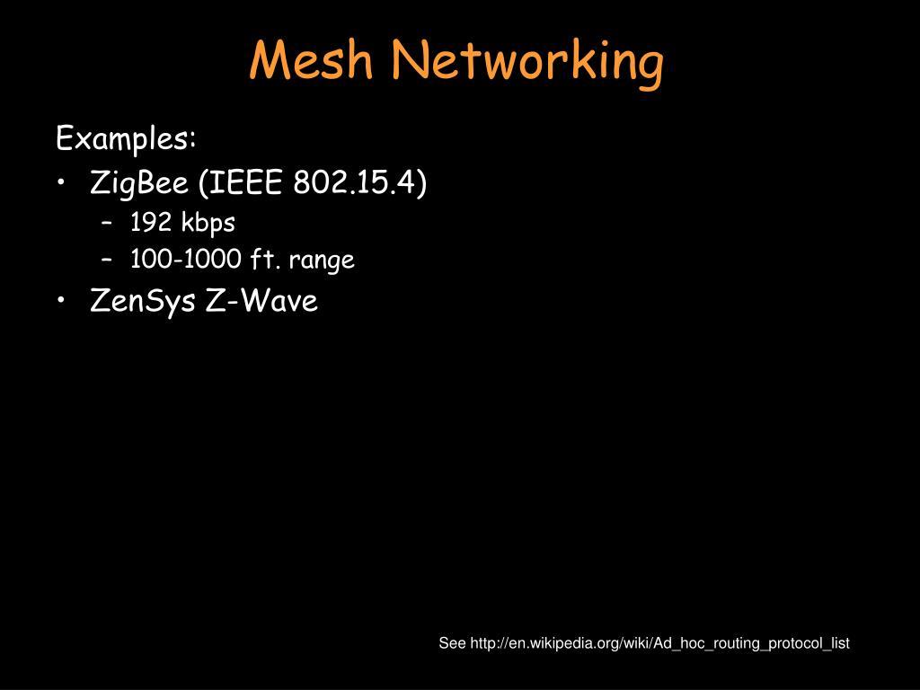 Mesh Networking