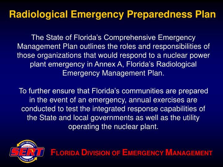Radiological emergency preparedness plan3