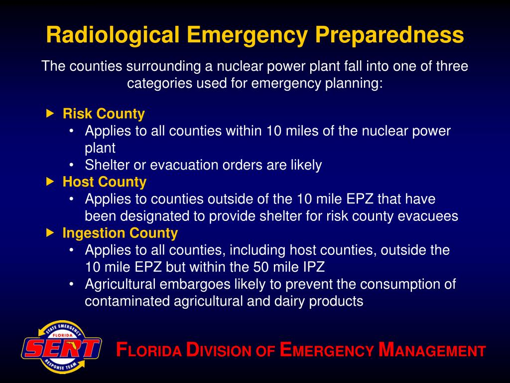 Radiological Emergency Preparedness