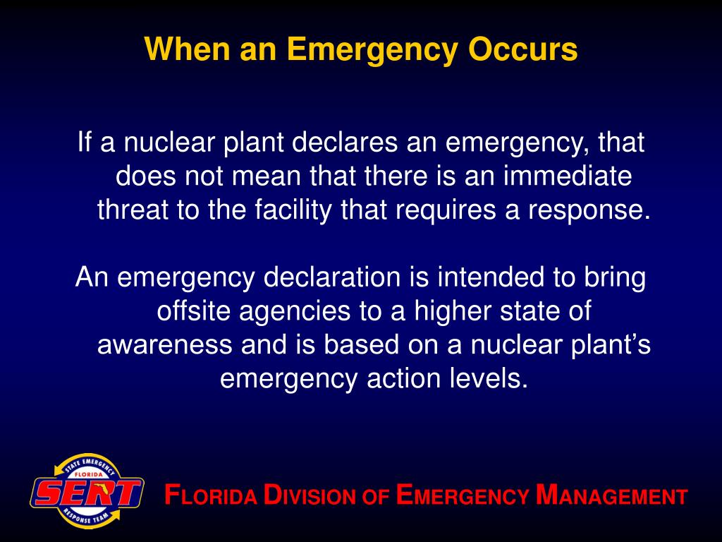 When an Emergency Occurs
