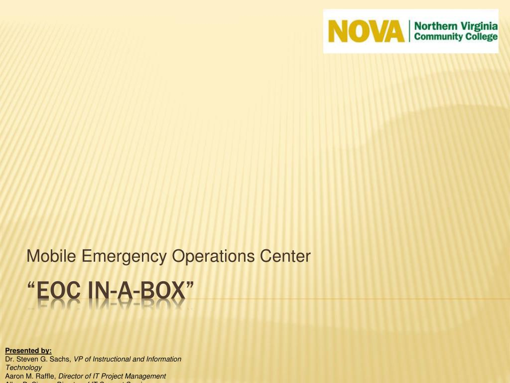 mobile emergency operations center l.