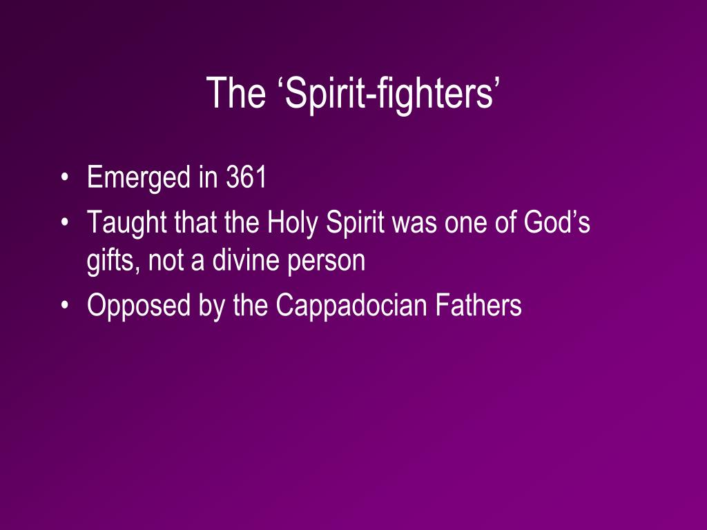 The 'Spirit-fighters'