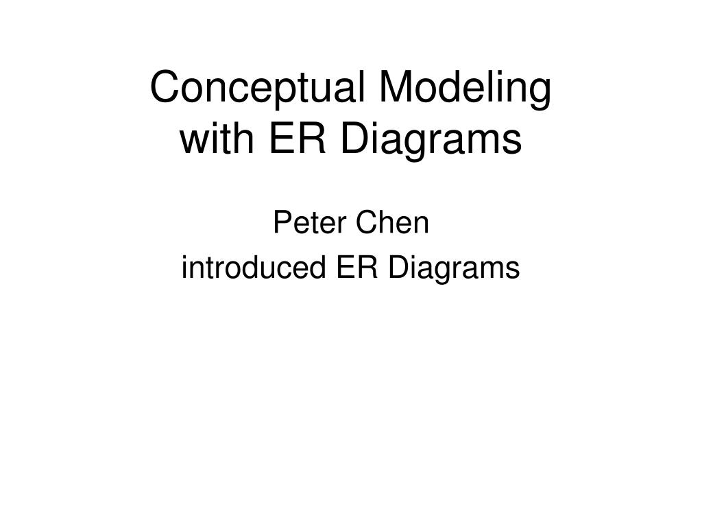 conceptual modeling with er diagrams l.