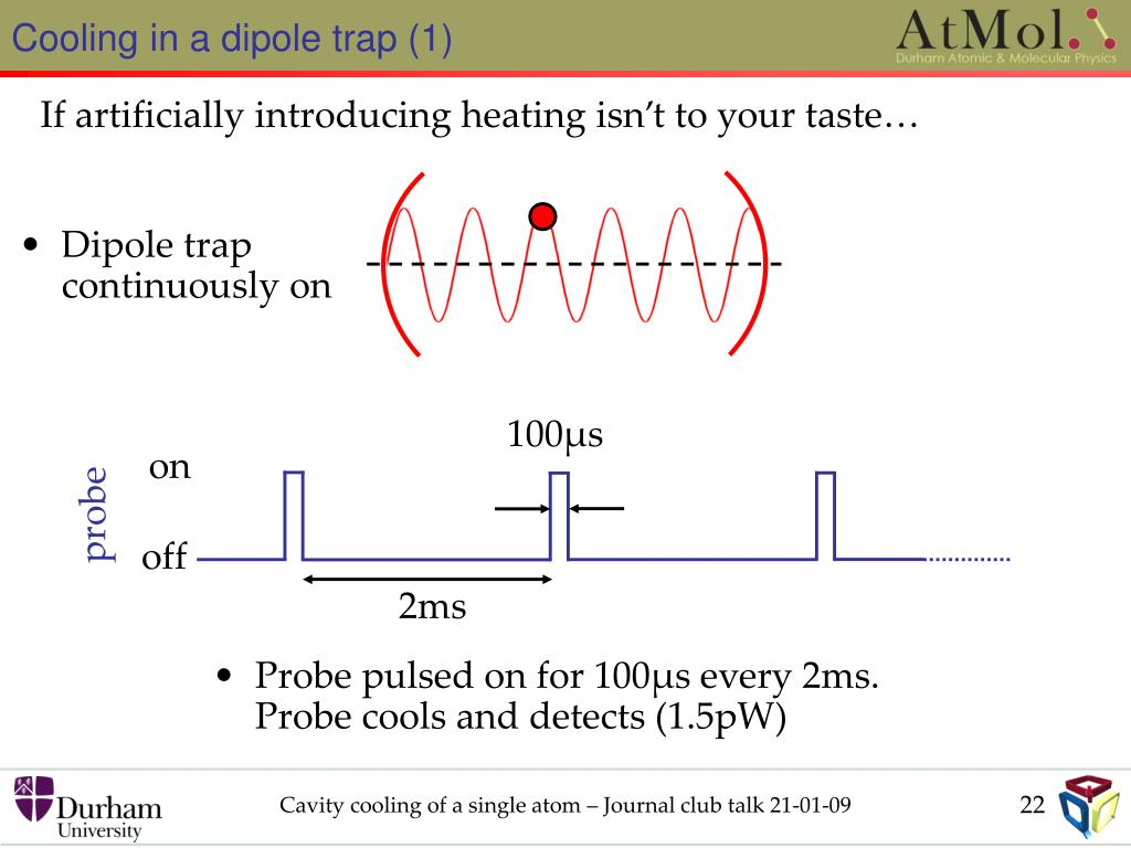 Cooling in a dipole trap (1)
