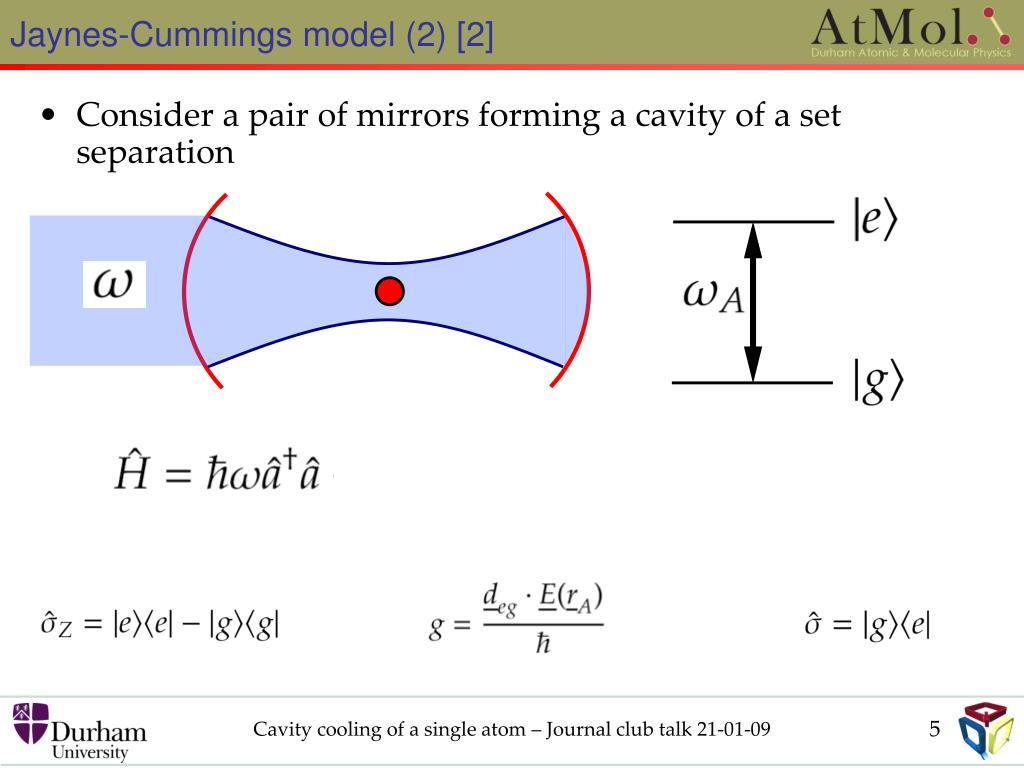 Jaynes-Cummings model (2) [2]