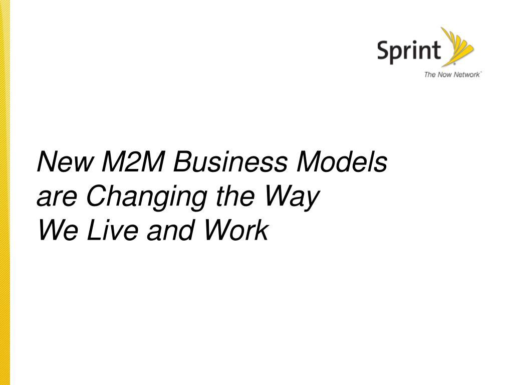 New M2M Business Models