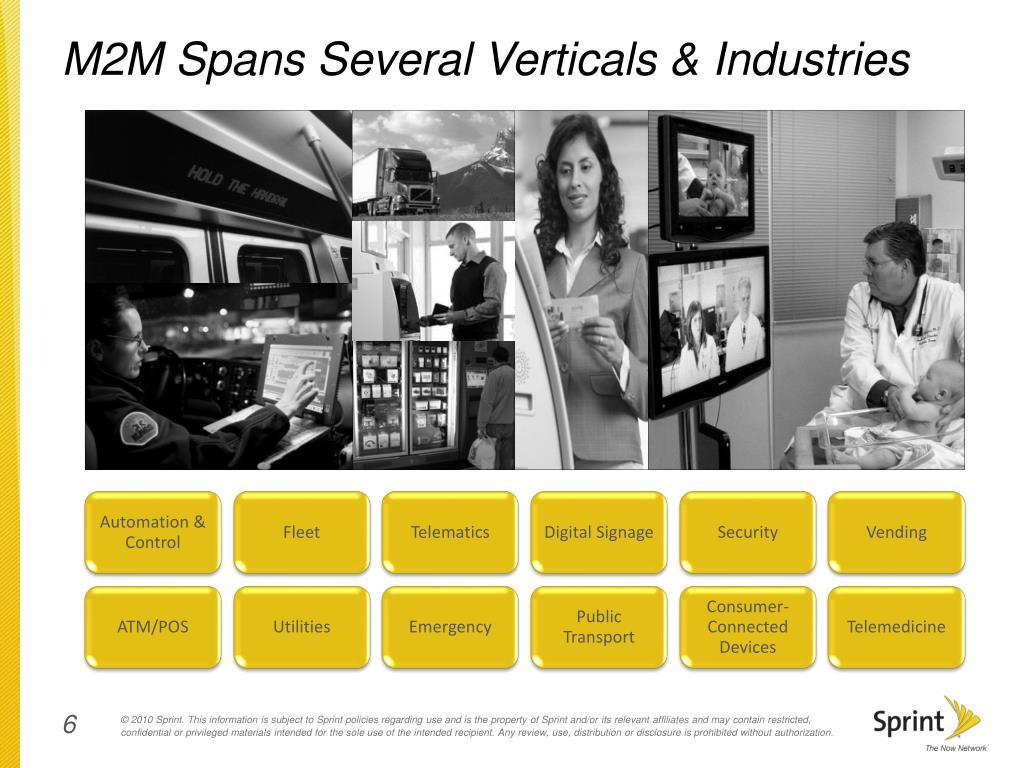 M2M Spans Several Verticals & Industries