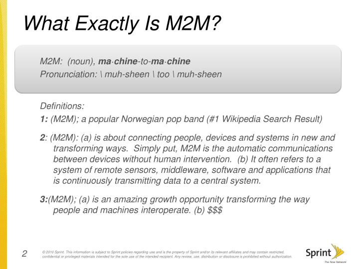 What exactly is m2m