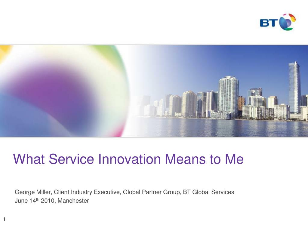what service innovation means to me