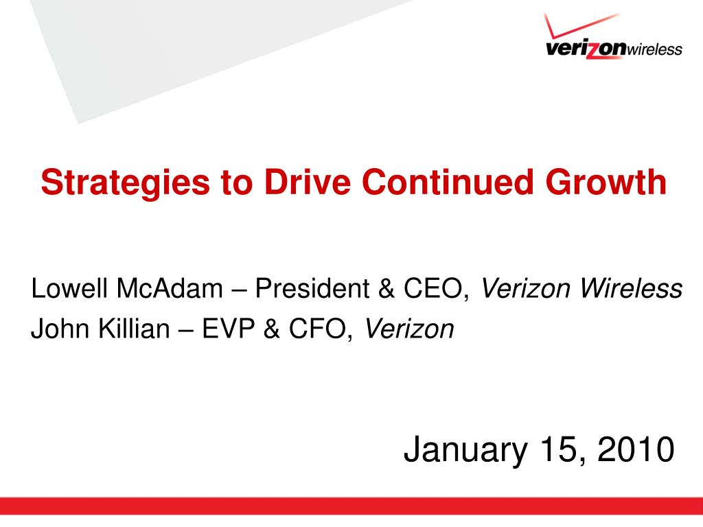 strategies to drive continued growth l.